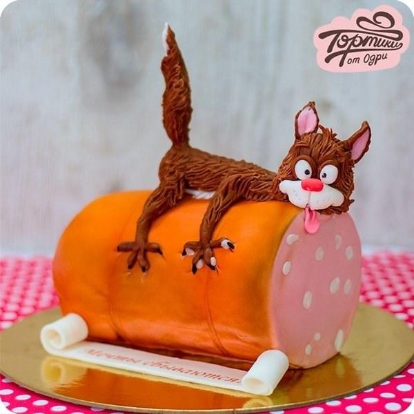 Тортики от Одри. Довольный кот.